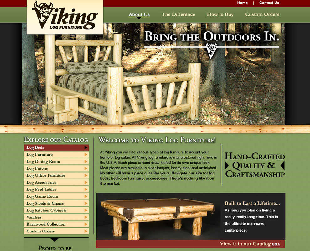 Viking Log Furniture